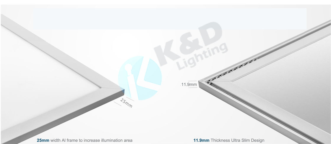 120Lm/W LED Flat Panel Light 72W 600*1200mm Screwless LED Flat Light Luminaire